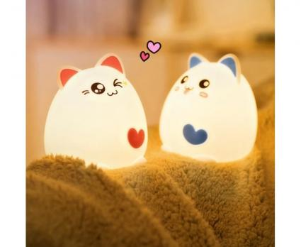 Ночник Sweet-Heart Cat Silicone night lamp WH-A05