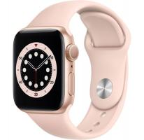 Apple Watch Series 6 40mm Gold Aluminium Case with Pink Sand Sport Band