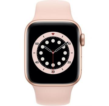 Apple Watch Series 6 40mm Gold Aluminium Case with Pink Sand Sport Band MG123