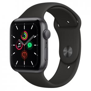 Apple Watch SE 44mm Space Gray Aluminium Case with Black Sport Band