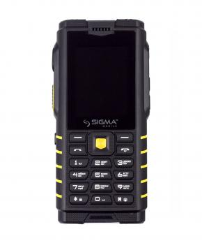 Телефон Sigma mobile X-treme DZ68 black-yellow
